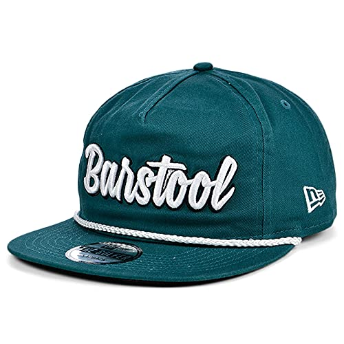 Barstool Sports New Era Classic Script Golfer 9FIFTY Adjustable Green/White Snapback Cap