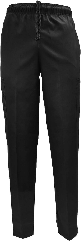 Natural Uniforms Classic 6 Excellent Pocket Multi-Pa Chef Black Pants Super-cheap with