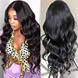 ALLRUN Body Wave Lace Front Wigs Brazilian Virgin Hair 4×4 Lace Closure Wigs Pre Plucked with Baby Hair For Black Women 150% Density (22 inch)