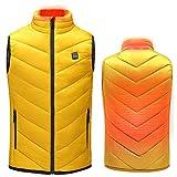 Delaspe Chaleco calefactor eléctrico recargable por USB para niños, ropa cálida de invierno para esquí al aire libre