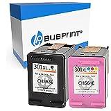 Bubprint 2 Cartouches d'encre Compatible pour HP 301 XL 301XL pour DeskJet 1000 1050 1510 2050 a 2510 2542 2544 2545 3050 3055a Envy 4507 5530 Multipack