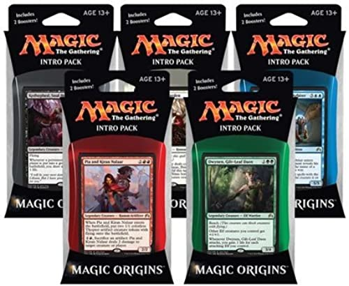 elige tu favorito MTG Magic the Gathering Gathering Gathering Origins M16 2016 Set of All 5 Intro Packs (5 decks) - Pre-Order Ships July 17th by Magic  the Gathering  ofreciendo 100%