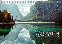 Dolomiten - Rundreise um Drei Zinnen (Tischkalender 2022 DIN A5 quer): Drei-Zinnen-Region in Suedtirol (Monatskalender, 14 Seiten )