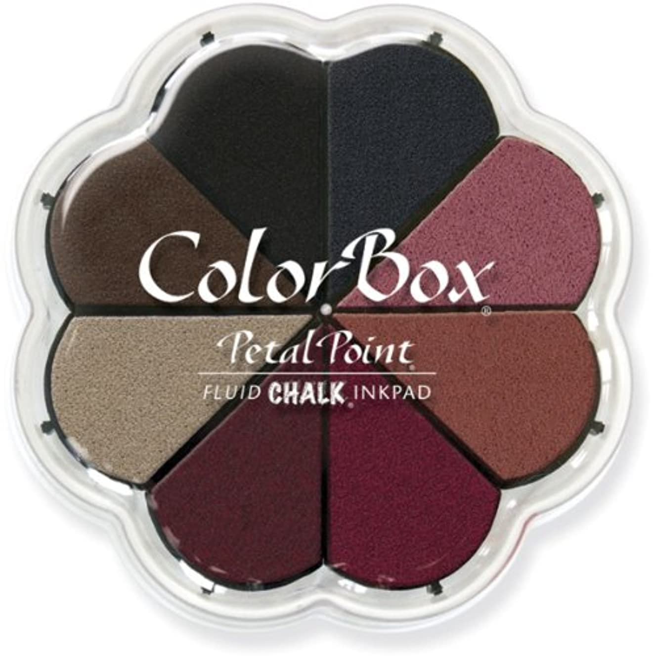 CLEARSNAP Colorbox Fluid Chalk Petal Point Option Inkpad, Nightfall, 8 Colors Per Pad