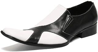 YOWAX Los Zapatos de Cuero de los Hombres por, Fiesta, Vaquero Personalizado Cantante de Punk Escenario de Funcionamiento ...