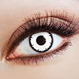 aricona Kontaktlinsen - Lentes de contacto de color blancas - lentes de contacto sin dioptrías puede utilizarse durante 12 meses, para Halloween y carnaval, 2 piezas