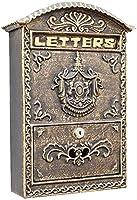 壁に取り付けられたレターボックスポストボックスヨーロッパのスタイルの壁マウント郵便ボックスアルミニウムセキュアレターボックス屋外レトロビンテージメールボックスロック可能なメールボックス