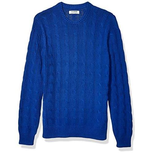 Amazon Brand – Goodthreads Men's Soft Cotton Cable Stitch Crewneck Long Sleeve Sweatshirt