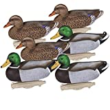 Flambeau Outdoors 8036SUV Storm Front 2 Mallard Decoys, Classic Floaters - 6-Pack