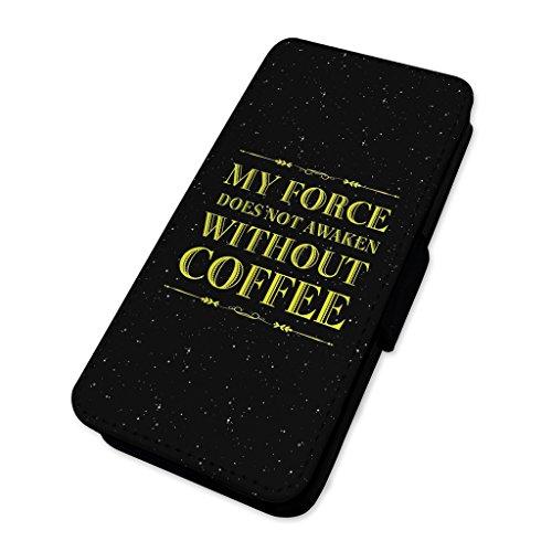 My Force nicht wecken–Funny Kaffee Platz–Flip Handy Schutzhülle Wallet Cover HTC One A9
