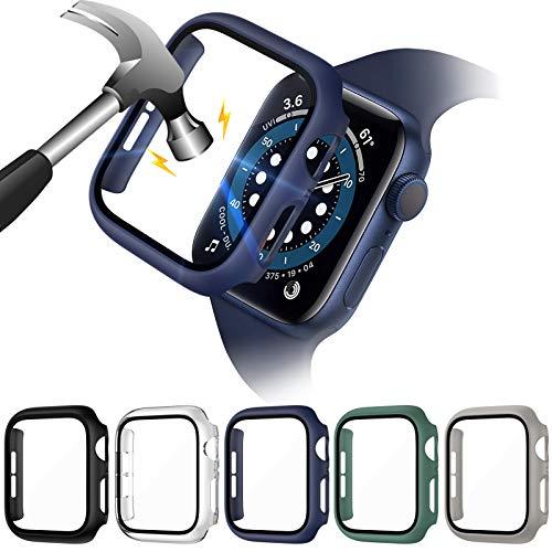 VASG 5 Pack Cover compatibile con Apple Watch Series 6/SE/Serie 5/Series 4 40mm con Vetro Temperato,...
