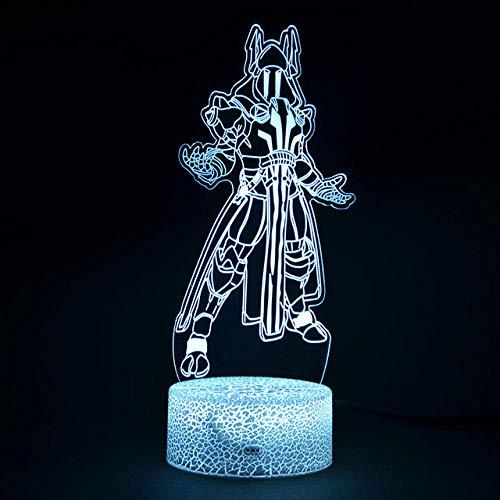 Luz nocturna 3D de 16 colores de conversión de la luz de la fortaleza del rey de hielo de la ilusión 3D de la lámpara de la decoración de las luces de la noche perfecto