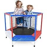 JIAYUAN Trampolines Mini trampolín, ejercicio de trampolín, básquetbol for niños con cojín de seguridad, canasta de baloncesto combinada, Hoopsfor, for niños y niñas, juguetes for bebés y niños pequeñ
