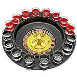 Rueda de Ruleta Rusa de 16 Hoyos Juego de Copa de Vino de música Juego de Ruleta Ktv Negro y Rojo