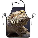 Balance-Life Delantal Animal Lindo Gracioso Barbudo lagartos de dragón para...