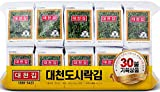 DAECHUN(Choi s1) Seaweed Snack, Pack of 30, Seasoned, Product of Korea