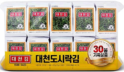 DAECHUN(Choi's1) Seaweed Snack, Pack of 30, Seasoned, Product of Korea