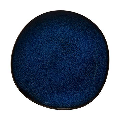 like. by Villeroy and Boch-Assiette plate Lave bleu, 28 cm, Assiette aux Proportions Généreuses en Grès, Résistante au Lave-Vaisselle et au Micro-ondes