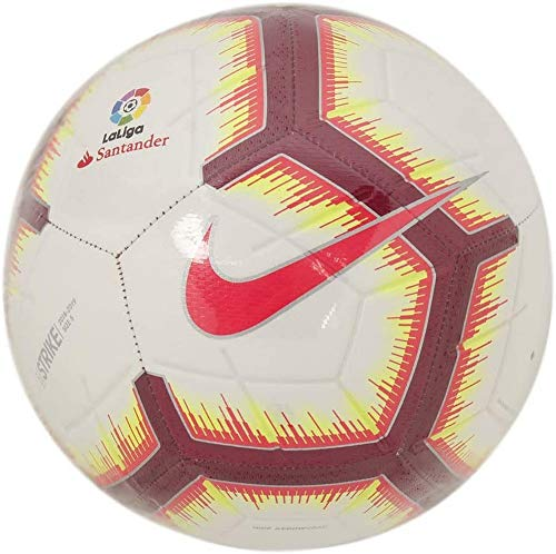Nike Ll Nk Strk-Fa18 Pallone, Uomo, White/Pink Flash/Team Red/Team Red, 5