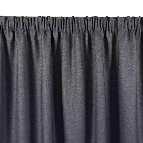 MADURA - Rideau LINA - Taille 145x280 cm - Couleur Gris Anthracite
