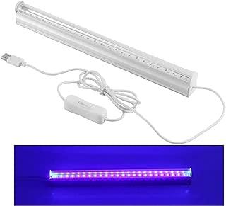 Abedoe USB Portable 6W LED Germicidal Ultraviolet Lamp UV Light Bar Air Fresh Sterilizing Lamp 395-400nm for DJ Party,Bathroom, Kitchen, Toilet, Bedroom, AC 100-265V (Plug Not Included)