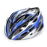 Fine Bike Helmet, Bicycle Helmets Men Women Sports Outdoor Safety Helmet for Road & Mountain, Adjustable Adult Lightweight Microshell Bicycle Helmet (Blue)