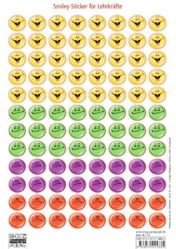 Würfel, Sticker, Stempel - Sticker / Smiley-Sticker für Lehrkräfte: Der coole Smiley für Lob und Tadel in vier Differenzierungen!. DIN-A4-Bogen mit 96 Stickern zum Abziehen und Aufkleben