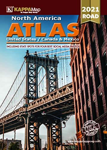 Deluxe Road Atlas-2021 Edition North America-United States/Canada/Mexico
