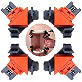Rakuby コーナー クランプ 4個セット 木工 直角 90度 木工定規 直角定規 DIY 工具