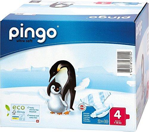 Pingo - Pañales desechables, talla 4 (de 7 a 18 kg, 160 unidades)