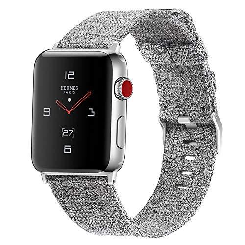 Correa Apple Watch 38 mm 40 mm 42 mm 44 mm, Reemplazo de Correa de Tela Tejida Pulsera de Nailon Compatible con Apple Watch SE/iWatch Series 6 5 4 3 2 1,B,42mm/44mm