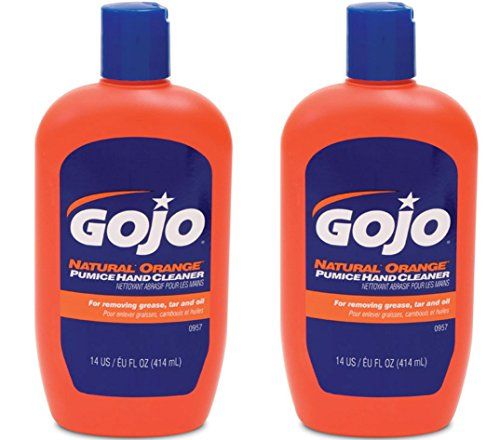 Gojo 957 Natural Orange Pumice Hand Cleaner - 14 oz. - 2 Pack