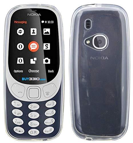 cofi1453 TPU SchutzHülle kompatibel mit Nokia 3310 (2017) Silikon Hülle Bumper Zubehör Silikontasche in Transparent
