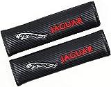 2pcs Almohadillas Cinturón de Seguridad De Coche, Hombreras Bordado Correa Protector Accesorios de Estilo Interio para Jaguar S Type SVR Xfr Xf Xkr F-Type Xe Xj-S Sportbrake 2000 Xk8