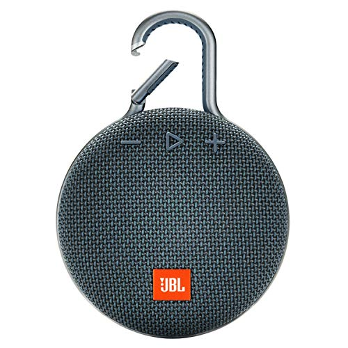 JBL Clip 3 Ultra-Portable Wireless Bluetooth Speaker with Mic (Blue)