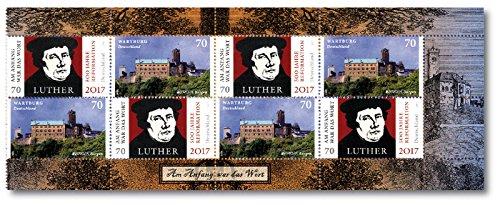 500 Jahre Reformation |Deutsche Post |exklusiver Achterbogen \'Wartburg\' |Briefmarken |Europaserie \'Burgen und Schlösser\' |ein ganz besonderes Sammelstück |postfrisch