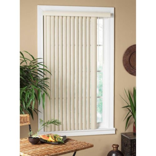 All Strong USA Vertical Alabaster Textured Window Blind 30-39 Inches Alabaster 36 x 64