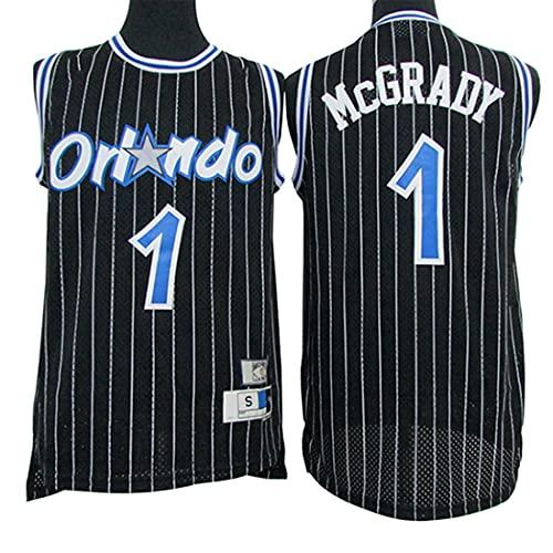 XSJY Jersey De Baloncesto para Hombres, NBA Orlando Magic # 1 Tracy McGrady Adulto Sin Mangas De Baloncesto Uniformes Chaleco, Transpirable, Absorbente De Sudor,A,L:175~180cm/75~85kg