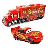 Movie Cars Toys Lightning McQueen Mack Hauler Truck & Racer Speed Racers Metal Toy Car (Trucks, Racing Cars) (No. 95 (car) 2)