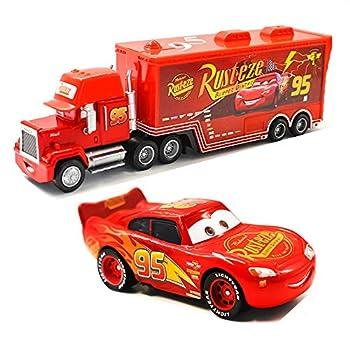 Movie Cars Toys Lightning McQueen Mack Hauler Truck & Racer Speed Racers Metal Toy Car  Trucks Racing Cars   No 95  car  2