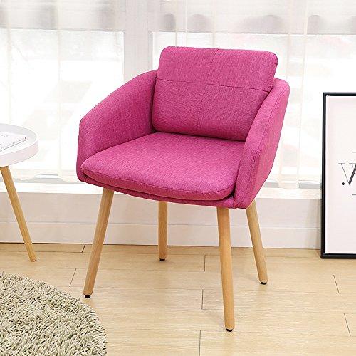 LJJL Banc stable, canapé en bois massif d'art de la chambre à coucher/chaise/simple canapé Pigro de couleur pure/balcon tabouret de Svago Siesta/Studio Fauteuil d'ordinateur (8 couleurs) D