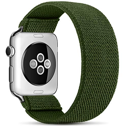 ZALAVER Stretchy Solo Loop Elastic Bands Compatible with Apple Watch 38mm 40mm, Stretch Braided Sport Elastics Wristband Compatible with iWatch Series 6/5/4/3/2/1 SE Women Men Small