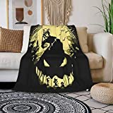 SPENIBGill Oogie Boogie Blanket Flannel Throw Blanket Double Cartoon Bedding Soft Quilt Household Quilt Cover 50'X40'