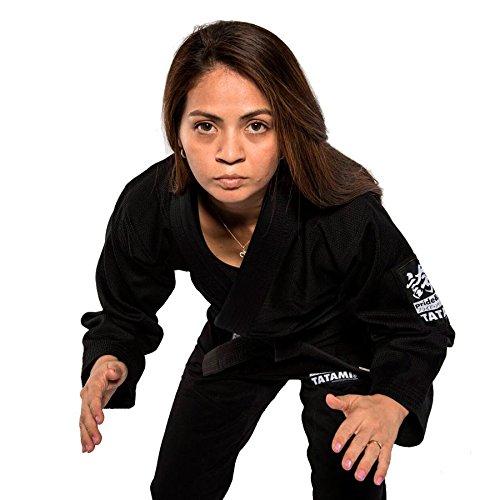 Tatami Fightwear Mujer Hokori BJJ Gi, Negro, F3C