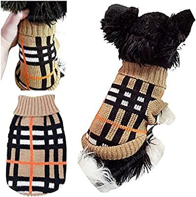 XXS Chihuahua Clothes Clothing Teacup Puppy Dog Coat Dog Jumper Tartan Stripe Small Puppy Dog Coat UK Seller XXS XS Small Tiny Breeds (XXS, Tartan Stripes)