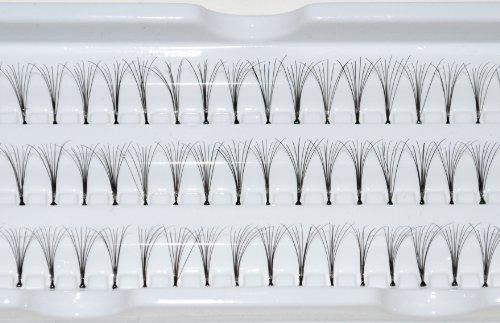 60 Stand Individual 10mm False Eyelashes Premium Extensions by Kiara H&B