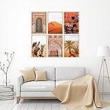 Póster de lienzo de viaje nórdico, pintura marroquí con estampado del desierto de Marrakech, camello, burro, imágenes artísticas de pared, decoración para sala de estar, 30 x 50 cm x 6 sin marco