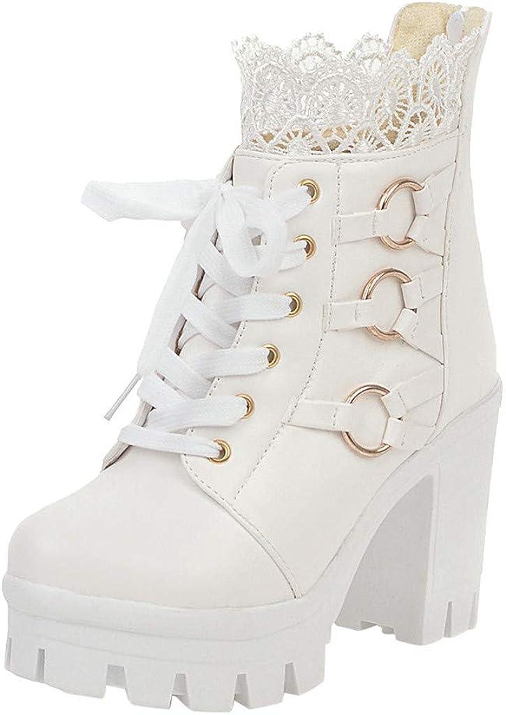 Rare Round Toe Platform Boots-RQWEIN Women's Sti High Front Heel Sexy Spasm price