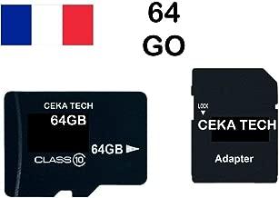 Tarjeta de Memoria Compatible con Cloudfone Go SP, CEKA TECH® Micro-SD 64GB Clase 10 con Adaptador SD