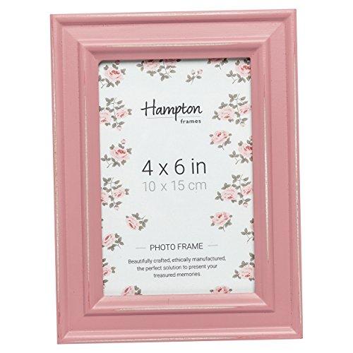 Hampton Frames Paloma Bilderrahmen aus Holz, Used-Look, 10 x 15 cm, Rosa